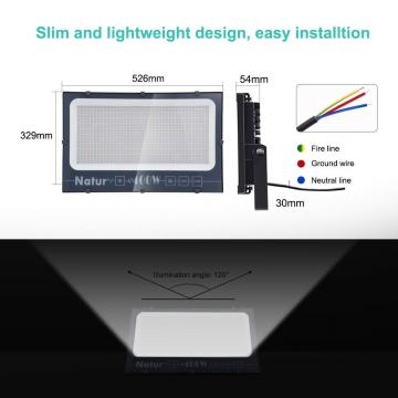 Bapro 400W LED Floodlight,IP66 Waterproof LED Smart Floodlight 40000LM, Cold White(6000K) Led Security Light Super Bright, Outdoor Lights for Garden Garage Doorways [Energy Class A++]