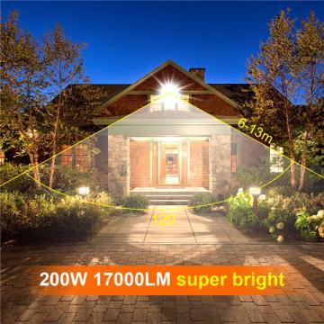 bapro 200W Flood Lights Outdoor,Super Bright Security Lights,IP65 Waterproof Flood Light, Warm White(3000K) Outdoor Flood Light Wall Light, 24 Month Warranty[Energy Class A++]…