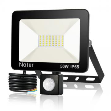 bapro 50W LED Security Lights with Motion Sensor, Slim Flood Light, IP65 Waterproof Flood Light Daylight White(6000K) Outdoor Lights 2019 New Series Perfect for Garden Garage [Energy Class A++]