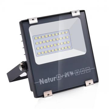 NATUR 20W LED Flood Light, Ultra Slim and Lightweight Design, 2000LM Outdoor Security Spotlights, 100W Halogen Equivalent, IP66 Waterproof, 6000K Daylight White [Energy Class A++]