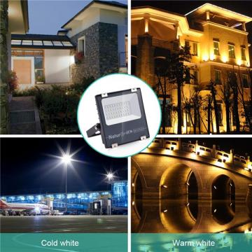 NATUR 20W LED Floodlight, 2000LM Outdoor Security Spotlights, Ultra Slim and Lightweight Design, 100W Halogen Equivalent, IP66 Waterproof, 3000K Warm White [Energy Class A++]