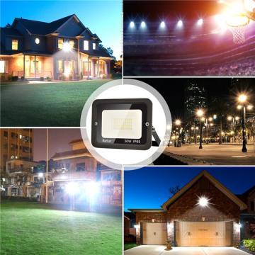 bapro 30W LED Outdoor Floodlight,Led Floodlight Super Bright, Garden Lights Cold White(6000K), IP65 Waterproof Outdoor Flood Light Wall Light Perfect for Garage, Garden,Forecourt[Energy Class A+]…