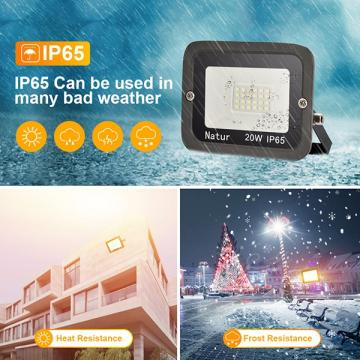 bapro 20W LED Outdoor Floodlight,Led Floodlight Super Bright, Garden Lights Cold White(6000K), IP65 Waterproof Outdoor Flood Light Wall Light Perfect for Garage, Garden,Forecourt[Energy Class A+]…