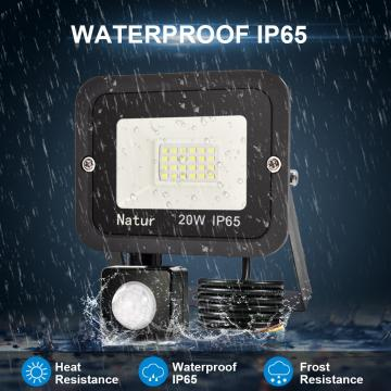 bapro 20W Security Lights with Motion Sensor,Led Floodlight Super Bright, Garden Lights Warm White(3000K), IP65 Waterproof Perfect for Garage, Garden and Forecourt[Energy Class A++]