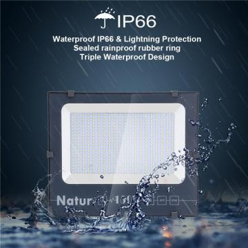 NATUR 150W LED Floodlight, 15000LM Outdoor Security Spotlights, Ultra Slim and Lightweight Design, 750W Halogen Equivalent, IP66 Waterproof, 3000K Warm White [Energy Class A++]