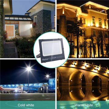 NATUR 150W LED Flood Light, Ultra Slim and Lightweight Design, 15000LM Outdoor Security Spotlights, 750W Halogen Equivalent, IP66 Waterproof, 6000K Daylight White [Energy Class A++]