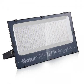 NATUR 300W LED Floodlight, 30000LM Outdoor Security Spotlights, Ultra Slim and Lightweight Design, 15000W Halogen Equivalent, IP66 Waterproof, 3000K Warm White [Energy Class A++]