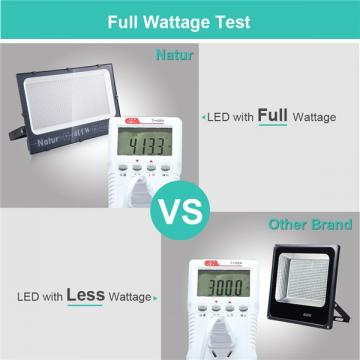 NATUR 400W LED Flood Light, Ultra Slim and Lightweight Design, 40000LM Outdoor Security Spotlights, 2000W Halogen Equivalent, IP66 Waterproof, 6000K Daylight White [Energy Class A++]