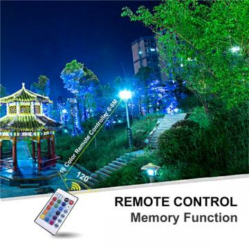 30W LED RGB Floodlight Outdoor,16 Colours 4 Modes, IP67 Waterproof, Dimmable Decorative, Suitable for Installation in Gardens, Stages, Buildings, Yards, Weddings, Parties, [Energy Class A+]