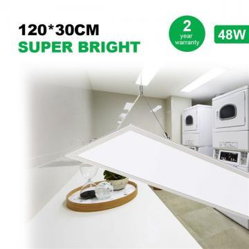 48W LED Panel Light 120 * 30CM, 150W LED Bulb Equivalent, Ultra Thin & Lightweight LED Ceiling Drop, 5800LM 4000K Neutral White, LED Flat Panel Light for Office Shop Garage Workshop Lighting