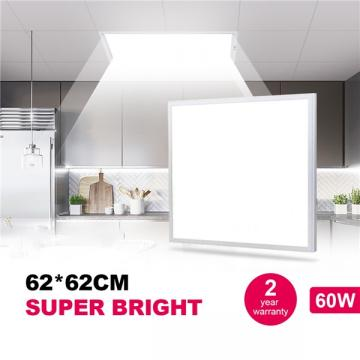 Natur 62 * 62CM LED Panel Light 48W, 150W LED Bulb Equivalent, Ultra Slim & Lightweight LED Ceiling Drop, 5800LM 4000K Neutral White, LED Flat Panel Light for Office Shop Workshop Kitchen Lighting [Energy Class A++]