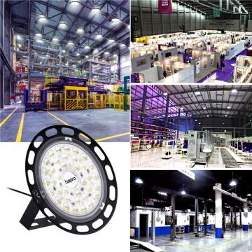 bapro 100W UFO LED High Bay Light, 10000LM Workshop Lights, led Bay Light 100W Commercial Bay Lighting Shop Area Workshop Garage Lights Garage Lighting [Energy Class A++]