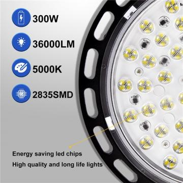 bapro LED High Bay Light 300W, Industrial Lamp, 30000LM High Bay Lighting,Daylight White 6000K Ultra Thin LED Warehouse Lighting, Workshop Lighting for Warehouse, Factory, Workshop [Energy Class A++]