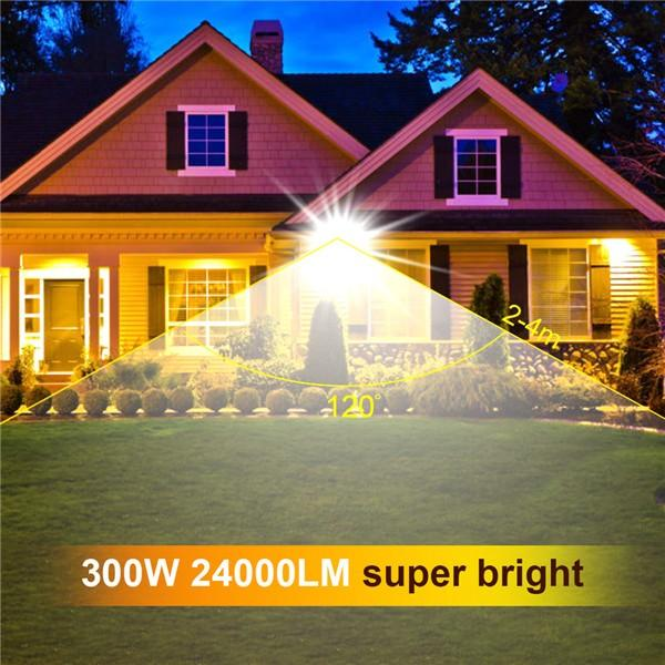 bapro 300W LED Outdoor Floodlight,Led Floodlight Super Bright, Garden Lights Cold White(6000K), IP65 Waterproof Outdoor Flood Light Wall Light Perfect for Garage, Garden,Forecourt[Energy Class A+]…