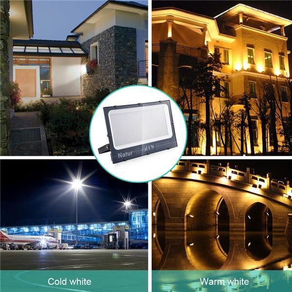 Bapro 600W LED Floodlight,IP66 Waterproof LED Smart Floodlight 60000LM, Warm White(3000K) Led Security Light Super Bright, Outdoor Lights for Garden Garage Doorways [Energy Class A++]
