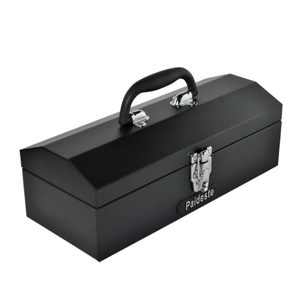 Paideste Toolbox Double Metal Tipping Bucket Heavy Duty Thick Metal Tool Box Portable Storage Box